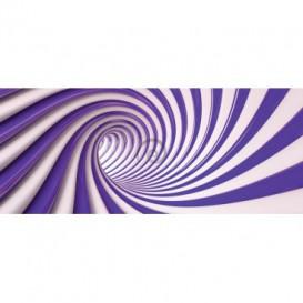 Panoramatická fototapeta - FT3762 - Špirálový fialový tunel - 3D
