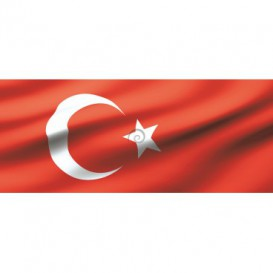 Panoramatická fototapeta - PA0139 - Turecká vlajka