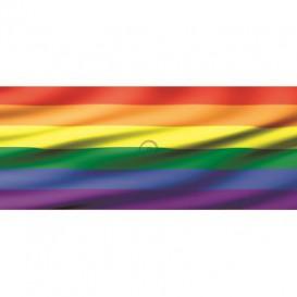 Panoramatická fototapeta - PA0140 - Dúhová vlajka