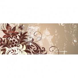 Panoramatická fototapeta - PA0198 - Kreslené kvety