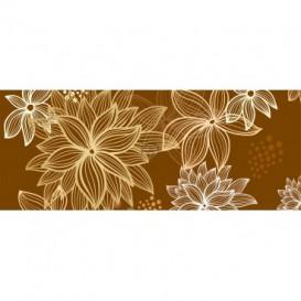 Panoramatická fototapeta - PA0200 - Kreslené kvety