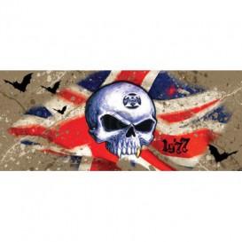 Panoramatická fototapeta - FT3857 - Lebka – anglická vlajka