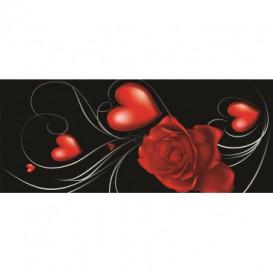 Panoramatická fototapeta - PA0007 - Červený kvet