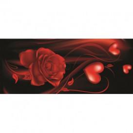 Panoramatická fototapeta - PA0008 - Červený kvet