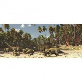 Panoramatická fototapeta - PA0037 - Dinosaury