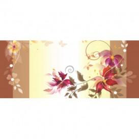 Panoramatická fototapeta - PA0300 - Kreslené kvety