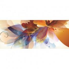 Panoramatická fototapeta - PA0303 - Kreslené kvety