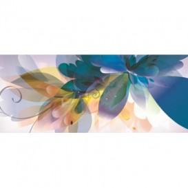 Panoramatická fototapeta - PA0304 - Kreslené kvety