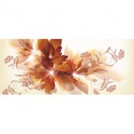 Panoramatická fototapeta - PA0305 - Kreslené kvety