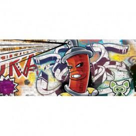 Panoramatická fototapeta - PA4020 - Street Style - Graffiti – červená