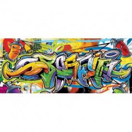Panoramatická fototapeta - PA4021 - Graffiti - farebný štýl street