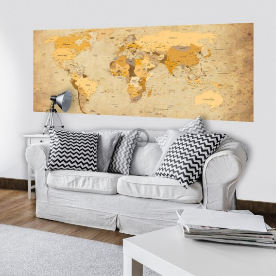 Panoramatická fototapeta - PA4364 - Mapa sveta