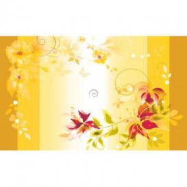 Fototapeta na stenu - FT2405 - Žltý kvetovaný motív