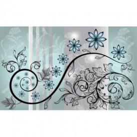 Fototapeta na stenu - FT2439 - Modrý kvetovaný ornament