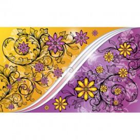 Fototapeta na stenu - FT2902 - Kvetovaný ornament – fialovo zlatý