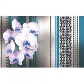 Fototapeta na stenu - FT2882 - Biele kvety na modrom pozadí