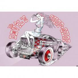 Fototapeta na stenu - FT3527 - Auto – oldschool ružové