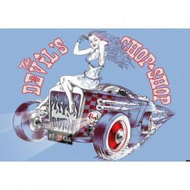 Fototapeta na stenu - FT3528 - Auto – oldschool modré