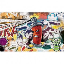 Fototapeta na stenu - FT2032 - Street Style - Graffiti – červená