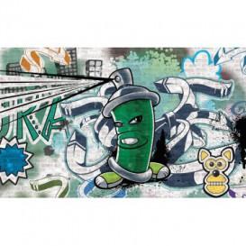 Fototapeta na stenu - FT2031 - Street Style - Graffiti - zelená