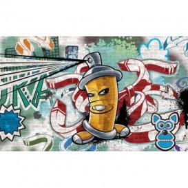 Fototapeta na zeď - FT2030 - Street Style - Graffiti - žlutá