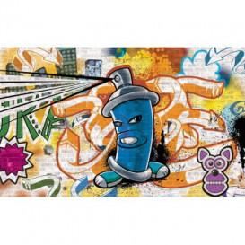 Fototapeta na stenu - FT2029 - Street Style - Graffiti - modrá