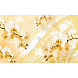 Fototapeta na stenu - FT2935 - Orchidea na zlatom pozadí