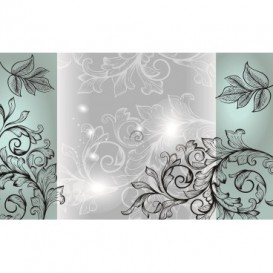 Fototapeta na stenu - FT3537 - Kvetovaný ornament – čiernobiele pozadie