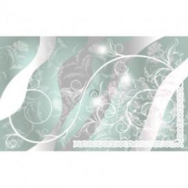 Fototapeta na stenu - FT3538 - Kvetovaný ornament – bledomodré pozadie