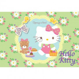 Fototapeta na stenu - FT2086 - Hello Kitty jarná