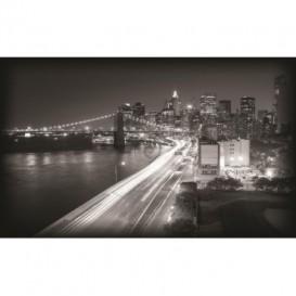 Fototapeta na stenu - FT0302 - Čiernobiele mesto zrýchlené