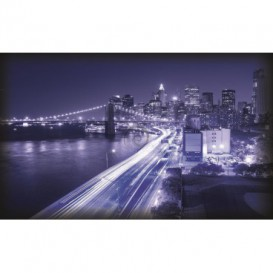 Fototapeta na stenu - FT0303 - Modré mesto zrýchlené