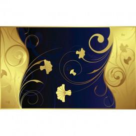 Fototapeta na stenu - FT3407 - Zlato modré kvety