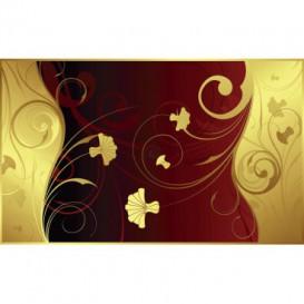 Fototapeta na stenu - FT3408 - Zlatočervené kvety