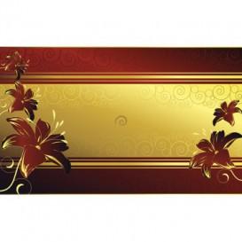 Fototapeta na stenu - FT4621 - Červené kvety na zlatom pozadí