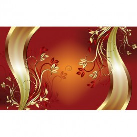 Fototapeta na stenu - FT4625 - Oranžovo zlatý ornament