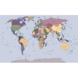 Fototapeta na zeď - FT4628 - Mapa světa