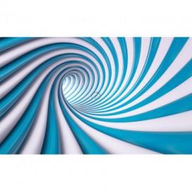 Fototapeta na stenu - FT4632 - Špirálový modrý tunel - 3D