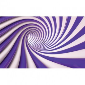Fototapeta na stenu - FT2192 - Špirálový fialový tunel - 3D