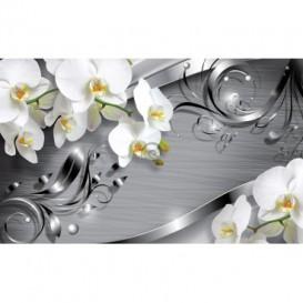 Fototapeta na zeď - FT3049 - Orchidej na šedém pozadí