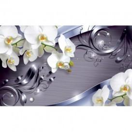 Fototapeta na zeď - FT3052 - Orchidej na fialovém pozadí