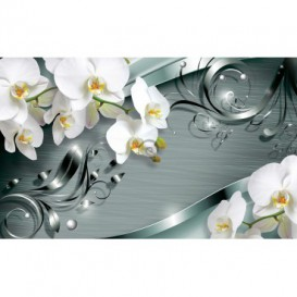 Fototapeta na zeď - FT3054 - Orchidej na šedém pozadí