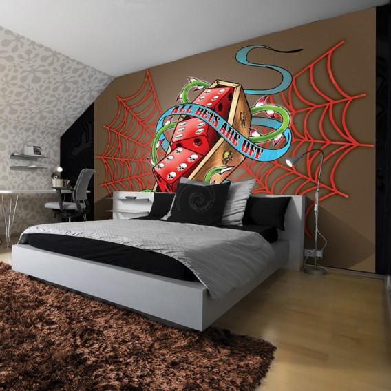 Fototapeta na stenu - FT3790 - Hráčske kocky – hnedé