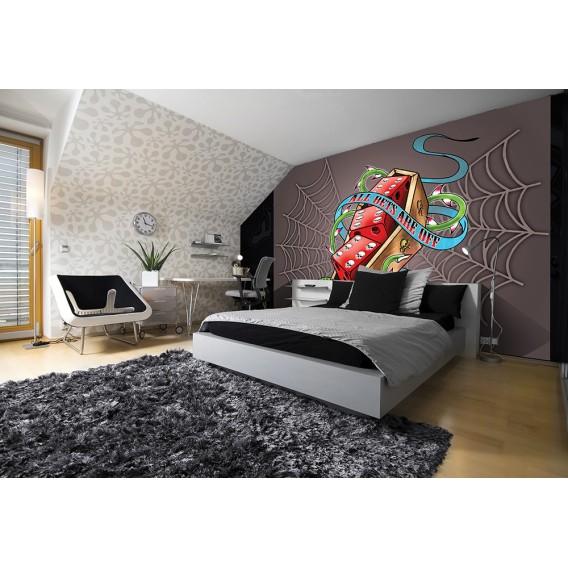 Fototapeta na stenu - FT3791 - Hráčske kocky – sivé