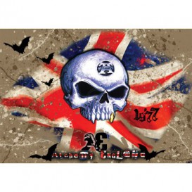 Fototapeta na stenu - FT3797 - Lebka – anglická vlajka
