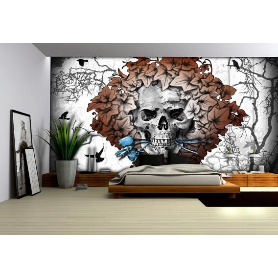 Fototapeta na stenu - FT3800 - Lebka – sivá