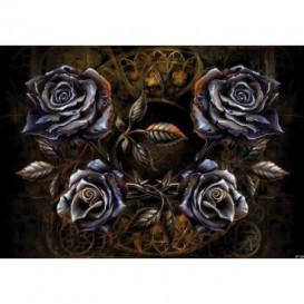 Fototapeta na stenu - FT3803 - Kovové ruže – hnedé