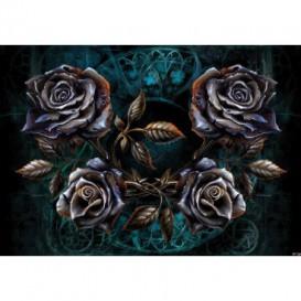 Fototapeta na stenu - FT3804 - Kovové ruže – modré