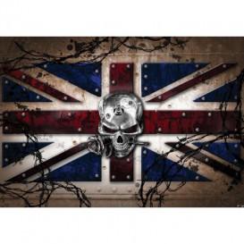 Fototapeta na stenu - FT3809 - Lebka – anglická vlajka