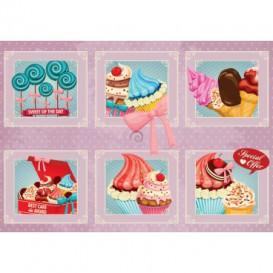 Fototapeta na stenu - FT4698 - Cupcake - koláž